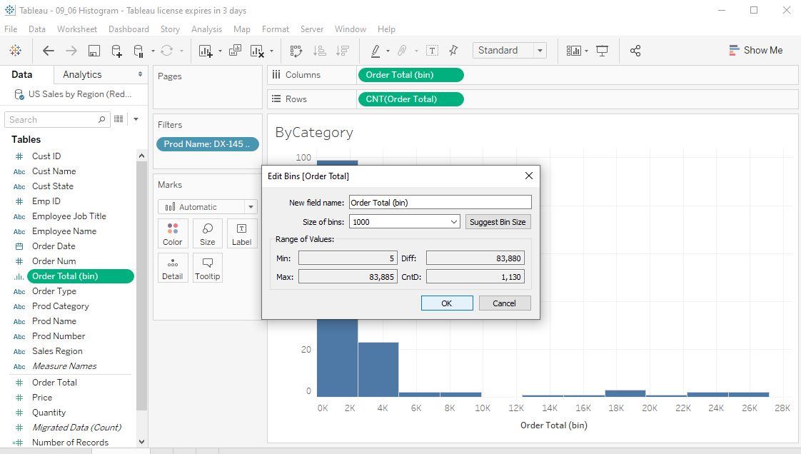Tableau Histograms Step 8